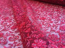 Embroidered French Lace, 'Broderie Colorée B' (per metre) dress fabric