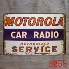 Metal Tin Sign motorola car radio service Decor Bar Pub Home Vintage Retro