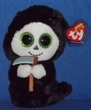 "TY BEANIE BOOS - GRIMM the 6"" GHOST with SICKLE - MINT with MINT TAG"