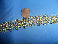 Vintage Gold Metallic Floral braid 1 yard
