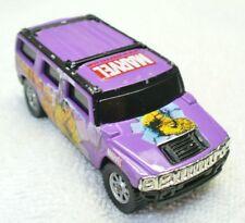 2002 MAISTO 1/64 Diecast Violet Hummer H2 Marvel Thing SUV-China WV2-10C