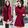 Women Wool Blend Coat Long Sleeve Overcoat Women Jacket Femme Manteaux Veste