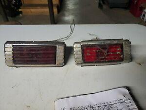 1941 41 1942 42 Packard clipper chrome Tail Light Bezels housing glass (1CRACKED