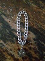 """Vintag 925 Italian Sterling Silver Charms Bracelet  1 Colorado Charm 20 Gram 8 """""""