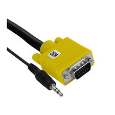 VGA Cable with 3.5mm Stereo Plug, 30M, Yellow