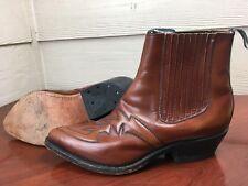 'Destroyer Leon. Gto. Mens Brown Leather Cowboy Boots Size 8D 30 29067 48 6671 B