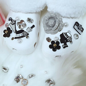 Shoe Charms Ornaments Accessories for Crocs-like Shoes - Bling Luxury Women Set