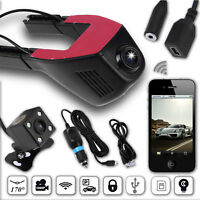 Dual Lens WiFi USB 1080P Hidden Car DVR Camera Video Recorder G-sensor Dash Cam