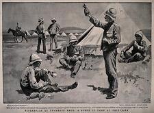 British soldados del ejército & Tent en Chieveley Boer War Sudafrica 7x5 Pulgadas impresión