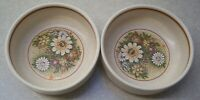 SET  OF  2   LENOX  TEMPER-WARE  MAGIC GARDEN   FRUIT / SAUCE BOWLS   4 3/4 inch