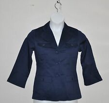 Linea by Louis Dell'Olio Stretch Sateen Blazer Size S Navy