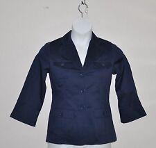 Linea by Louis Dell'Olio Stretch Sateen Blazer Size XL Navy