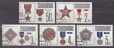 CZECHOSLOVAKIA 1987 USED SC#2642/46 Medals and Orders Czechoslovak