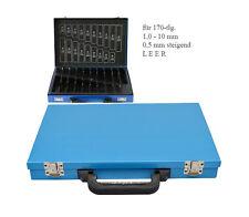 Bohrer Leerkassette 1,0-10 x 0,5mm 170-tlg Box Leer Metallkassette Bohrermagazin