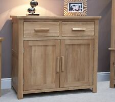 Windsor solid oak furniture small storage sideboard with felt pads