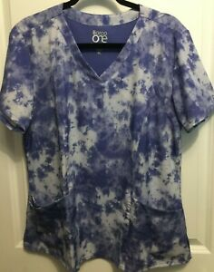 Women's Barco One purple and white scrub top size XL - NWOT