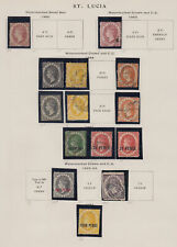 SAINT LUCIA 1860-1969 Collection on Scott printed leaves - 12129