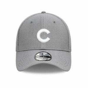 New Era Chicago Cubs Diamond Edition MLB Team 39Thirty Hat In Grey
