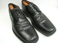 Johnston Murphy Mens Black Leather Apron Toe Oxfords Size US 11 M Made In Italy