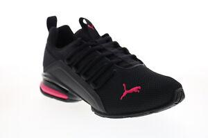 Puma Axelion Mesh 19409301 Womens Black Mesh Athletic Running Shoes