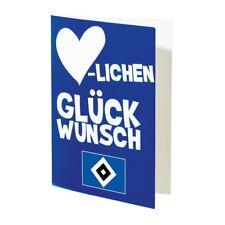 """Glückwunschkarte Karte """"Herzlichen Glückwunsch""""  Hamburger SV HSV"""
