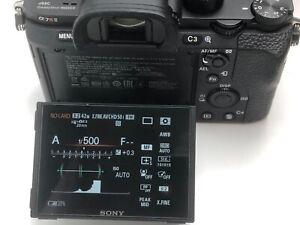 Sony Alpha 7R II Spiegellose Digitalkamera  Schwarz (ILCE Top. 3100 Auslösungen