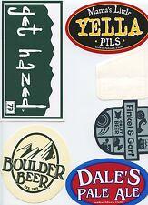 Lot of 6 Beer Decal Sticker Boulder Dales Hazed Yella Upslope Finkel & Garf