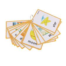 Baby Flash Cards Set Educational Learning Picture & Word Card Flashcards