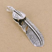 Sterling Silver Feather Pendant 925 Vintage Celtic Eagle Stamp WSP345