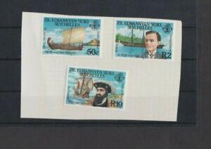 Seychelles Zil Sesel 1985 Famous Explorers set MH per Scan .. Mint hinged