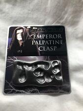 STAR WARS EMPEROR PALPATINE CLASP PROP REPLICA W/ Metal Plaque - Gun Metal