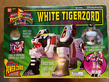 Mighty Morphin Power Rangers White Tigerzord & White Ranger Figure Sealed