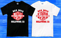 MOTLEY CRUE Bad Boys Hollywood Rock Band Men's T-Shirt Size S to 2XL