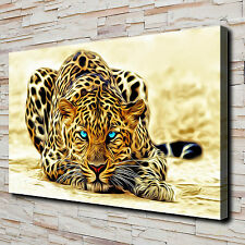 Animal Fierce Leopard Painting HD Print on Canvas Home Decor Wall Art Pictures