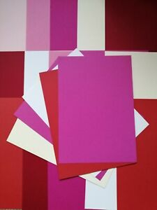 20 A4 Valentines / Love CARD STOCK FOR CARD MAKING / CRAFTING  Red, Pink, White