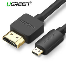 Ugreen Micro HDMI to HDMI Cable 2M High Speed 3D 4K Audio Lead Ethernet fr GoPro