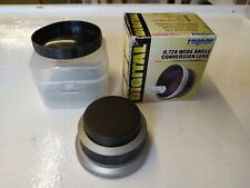 Raynox DCR-720 Wide Angle Conversion Lens 0.72x 52mm boxed with cap and case