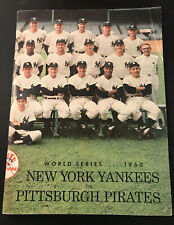 1960 World Series GM 3 Program Mickey Mantle HR/Ford Win 10-0/Clemente New York