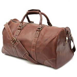Bag Travel Leather Luggage Duffle Men Gym Weekend Vintage S Shoulder Mens Tote 1