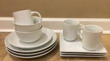 NEW 12PC Pottery Barn Great White Dinnerware Set WHITE