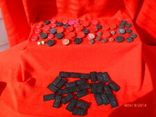 Vintage Game Board Pieces Parts Dragon Dominoes Checkers Crafts Jewelry Dice