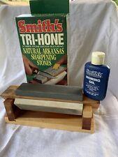 Smith'S Tri-Hone Arkansas Sharpening Stones (Heavy, Med, Fine) Cedar Wood Tri-6
