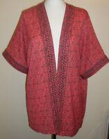 Ladies NEXT Waterfall Kimono Style Aztec Summer Cardigan Jacket Sheer Sz 12