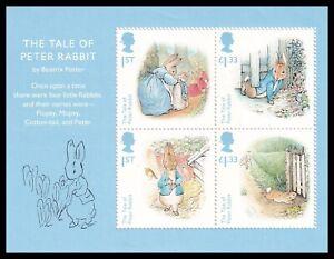 2016 GB Beatrix Potter Birth Anniversary MS3868 Miniature Sheet UM MNH