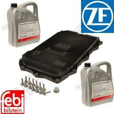 For BMW 8HP Auto Trans Service Kit Oil Pan+Filter Kit Gasket Plugs 10L Fluid ATF