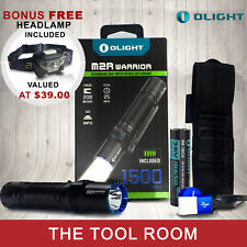 Olight M2R Warrior 1500 Lumens Rechargeable LED Torch [Free Bonus Head Lamp]