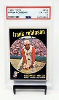 1959 Topps HOF Reds Star FRANK ROBINSON Vintage Baseball Card PSA 6 EX-MINT