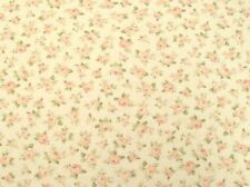 Cottage Shabby Chic Mary Rose Mini Roses Cream Cotton Fabric BTY