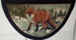 """TEXTILE KITCHEN RUG (nonskid) (18"""" x 31"""") FOREST ANIMALS,RED FOX, slice, Brumlow"""