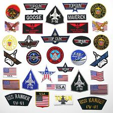 TOP GUN PATCHES - Any Patch £1.95, Iron-On, Free 1st Class Post, UK SELLER! NEW!